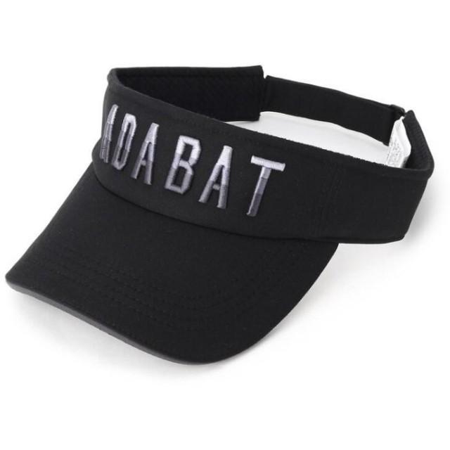 アダバット ADABATロゴサンバイザー メンズ ブラック(019) 00(FREE) 【adabat】