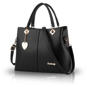 Nicole&Doris 2016女性のバッグの新しいシンプルなファッションビッグバッグハンドバッグ女子シングルスバッグメッセンジャーバッグの女性の財布(Black)