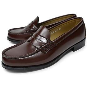 [ハルタ] ローファー 学生靴 4514 レディース ブラウン 23.0cm