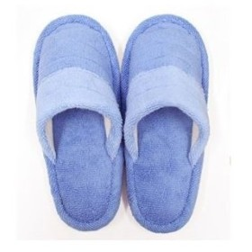ds-2171821 トイレスリッパ 【ブルー系】 消臭機能付き 洗える 綿100% 『フレッシュデオ 消臭トイレタリーシリーズ』 〔お手洗い〕【代引不可】