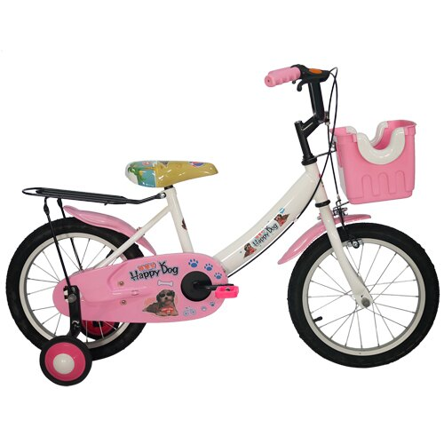 Adagio 16吋酷樂狗打氣胎童車附置物籃-粉色(BEYJ173UP)「618購物節」