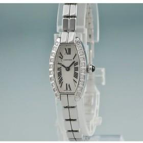 3年保証 カルティエ 時計 K18WG無垢 ダイヤ ミニトノーラニエール W15363W3 クォーツ レディース 2405001263245中古