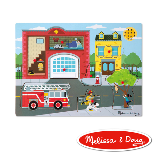 美國瑪莉莎 Melissa & Doug 聲音拼圖-情境聲音, 消防局
