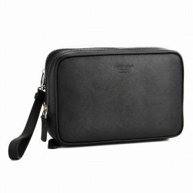 ジョルジオアルマーニ/GIORGIO ARMANI バッグ メンズ 型押しカーフスキン セカンドバッグ ブラック Y2P064-YB52J-80001