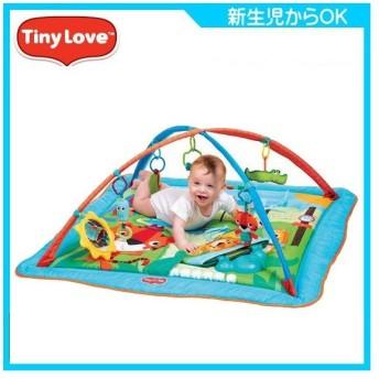 ベビージム ジミニー トータルプレイグラウンド キック&プレイ シティサファリ タイニーラブ 日本育児 おもちゃ プレイマット 出産