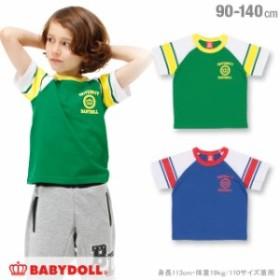 【通販限定】 SALE 50%OFF アウトレット 袖ライン Tシャツ ベビーサイズ キッズ ベビードール 子供服 1133K