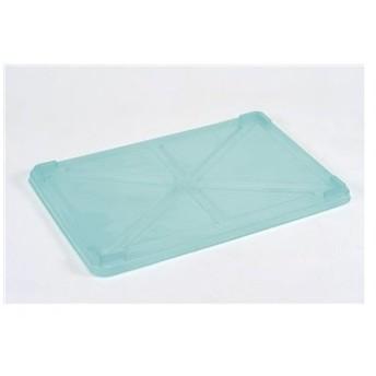 PP半透明カラー番重 蓋 大 グリーン(サンコー製)/業務用/新品