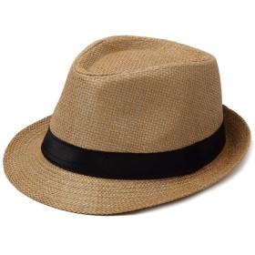中折れハット パピルス製 アウトドア 帽子 メンズ レディース おしゃれ ストローイエロー
