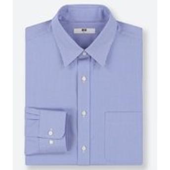 ファインクロスストライプシャツ(レギュラーカラー・長袖)
