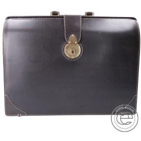 土屋鞄 ブライドルレザー ダレスバッグ/ビジネスバッグ ダークブラウン メンズ