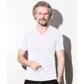 シフォン 1PIU1UGUALE3 RELAX(ウノピゥウノウグァーレトレ) ベーシックVネックTシャツ メンズ ホワイト XL 【SHIFFON】