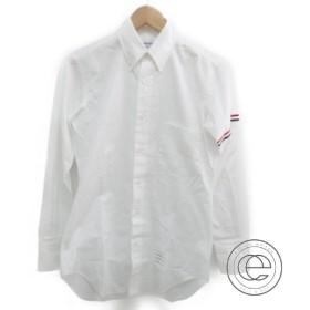 THOM BROWNEトムブラウン MWL001E03113100 RWB ヘアライン アームバンド ポプリンシャツ0 トップス ホワイト メンズ