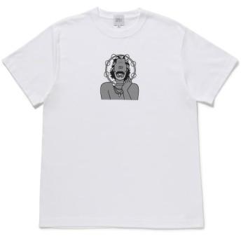 ボンジュールレコード/【bonjour records】face T-Shirt 03/ホワイト/M