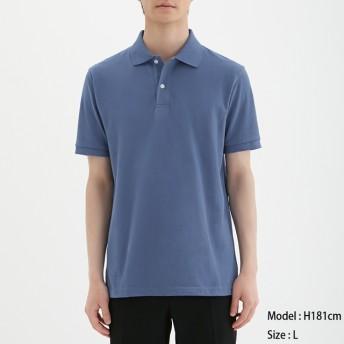(GU)GUドライポロシャツ(半袖)CL BLUE M