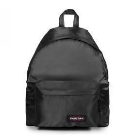 《セール開催中》EASTPAK Unisex バックパック&ヒップバッグ ブラック ポリエステル 100% PADDED PAK'R SATIN BLACK