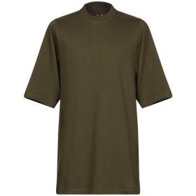 《セール開催中》RICK OWENS メンズ T シャツ ミリタリーグリーン S コットン 100%