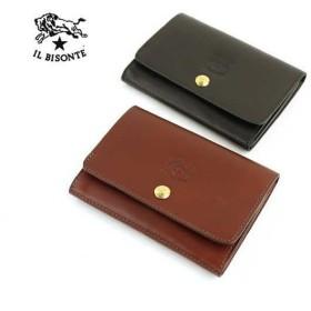 イルビゾンテ IL BISONTE バケッタスムース レザー 二つ折り 財布・54152311340-0061502