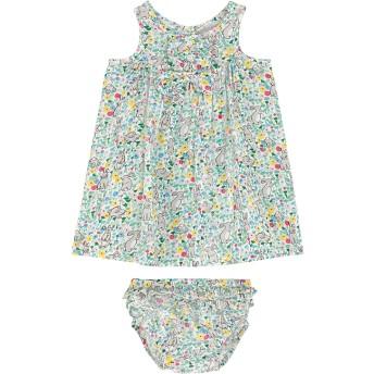【6-12ヶ月】ベビー フリルプラケットドレス ウィズ ブルマー バニーメドー