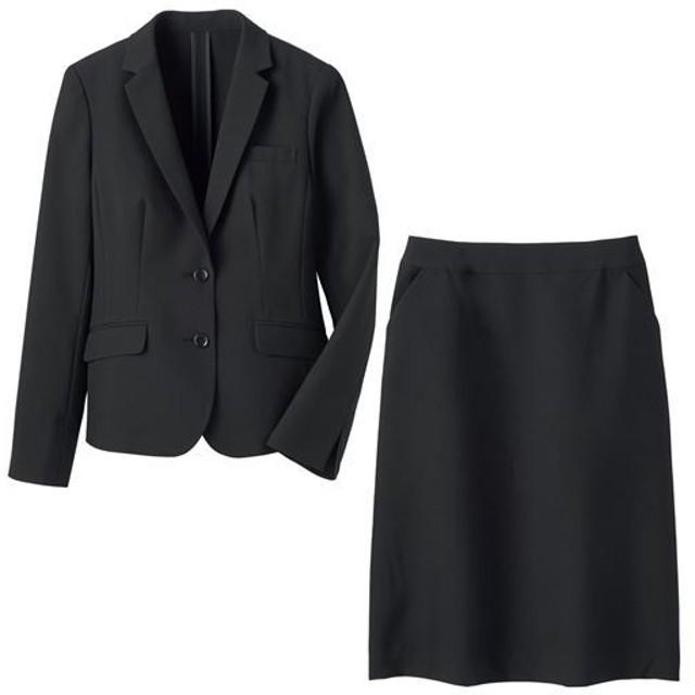 【レディース】 スカートスーツ(洗濯機OK・形態安定) - セシール ■カラー:ブラック ■サイズ:11AR67,9AR64,19ABR88,21ABR92,13ABR76,7AR61,13AR70,15ABR80,17ABR84