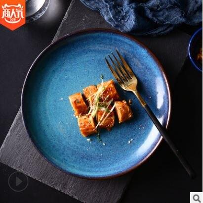 美琪 北歐現代創意復古陶瓷餐盤菜盤沙拉甜品盤