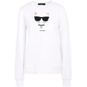《期間限定セール開催中!》KARL LAGERFELD レディース スウェットシャツ ホワイト XS コットン 100% IKONIK CHOUPETTE SWEATSHIRT