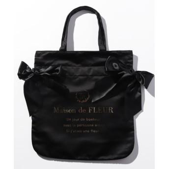 Maison de FLEUR メゾンドフルール ダブルリボントートバッグ