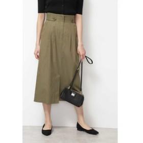 【NATURAL BEAUTY BASIC:スカート】[洗える/接触冷感]ハイウエストナロースカート