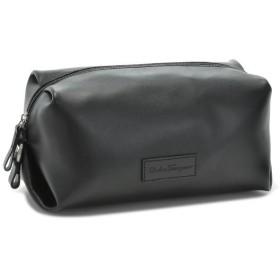 フェラガモ/FERRAGAMO メンズ バッグ カーフスキン セカンドバッグ ブラック 248917-0001-0010