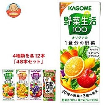 送料無料 カゴメ 野菜生活100・野菜一日これ一本 詰め合わせセット 200ml紙パック×48(4種×12)本入