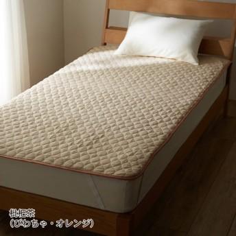 敷きパッド シーツ 日本製 綿 枇杷茶(びわちゃ・オレンジ) セミダブル