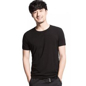 GRAT.UNIC T社 メンズ Tシャツ スポーツウェア クルーネック 無地 半袖 綿 メンズ おしゃれ Tシャツ 3枚組 ブラック 3L
