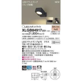 パナソニック スポットライトXLGB84917CE1(本体:LGB84011+ランプ:LLD4000LCE1)LED(100形)拡散(電球色)(電気工事必要)Panasonic