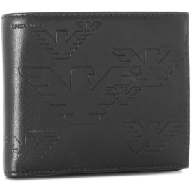 エンポリオアルマーニ/EMPORIO ARMANI 財布 メンズ PVC 2つ折り財布 ブラック YEM122-YH187-80001