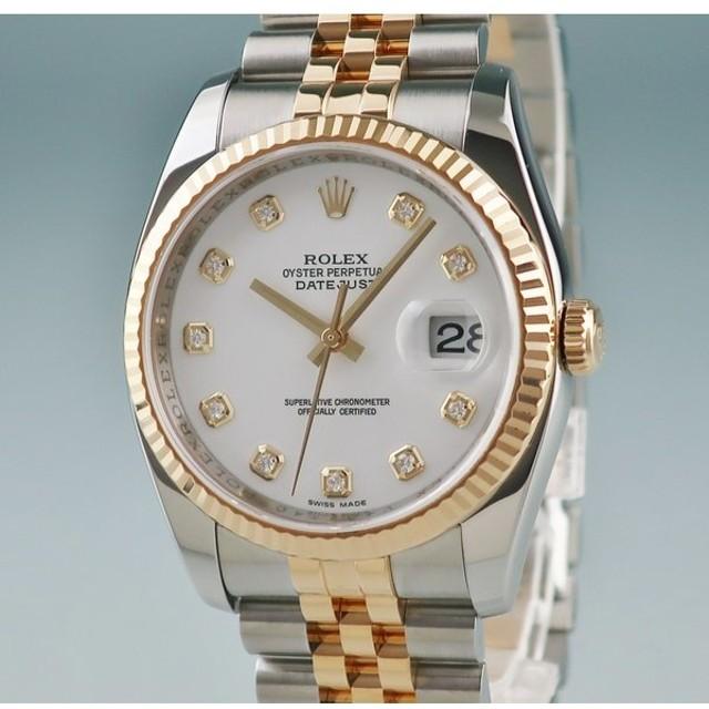 premium selection 94863 98e1f 3年保証 ロレックス ROLEX デイトジャスト 116233G 時計 V番 ...