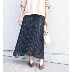 【シップス/SHIPS】 《予約》Khaju:プリントプリーツスカート