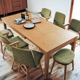 【大型商品送料無料】軽く引き出せるエクステンションダイニングテーブル