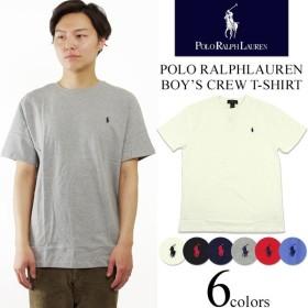 ポロ ラルフローレン POLO RALPHLAUREN ボーイズ 半袖 クルーネック Tシャツ (米国流通モデル ワンポイント)