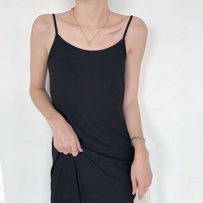 FOFU-連身裙中長版內搭連身裙百搭吊帶外穿內搭裙【08G-M0952】