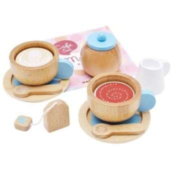 【WOODY PUDDY ウッディプッディ】 はじめてのおままごと カフェセット ディンギー おもちゃ toys ギフト 誕生日プレゼント 知育玩具 子供 インスタ