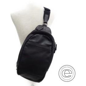 COACH コーチ レザースリングパック/ボディバッグ ブラック メンズ