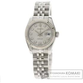 ROLEX ロレックス 179174G デイトジャスト 10Pダイヤモンド  腕時計  ステンレススチール/SSxK18WG レディース  中古