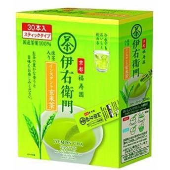 宇治の露 伊右衛門 インスタント玄米茶スティック (0.8g×30P)×3個