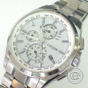 未使用 CITIZEN シチズン AT8040-57A ATTESAアテッサ ダイレクトフライト クロノグラフ エコドライブ ソーラー電波腕時計