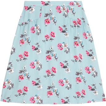 【10】ビスコース ツイル ギャザードディテール スカート キャット&フラワー