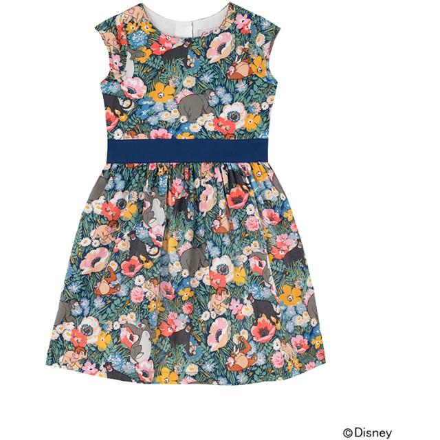 【130-135cm】ディズニー『ジャングルブック』 キッズキャップスリーブドレス  ジャングルフラワー