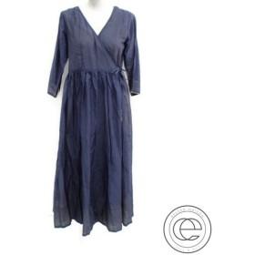 美品 18SS   MYLANマイラン MY18SS-OP041 シルクコットン Crinkle wrap dress クリンクルラップドレス/ロングカーディガンM