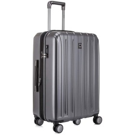 DELSEY デルセー スーツケース 中型 Mサイズ ハードキャリーケース ハードキャリーバッグ マット加工 拡張可能 大容量 軽量 TSAロック VAVIN 5年国際保証付 82L&ダークグレー