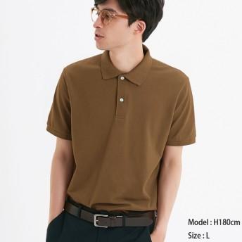 (GU)GUドライポロシャツ(半袖)CL BROWN XS
