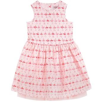 【115-125cm】スリーブレス ドレス バレリーナストライプ