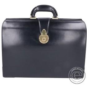 美品  大峽製鞄 おおばせいほう 952-BRD イタリアン ダレスバッグ/ビジネスバッグ ブラック メンズ